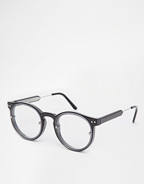 Spitfire Round Clear Lens Glasses