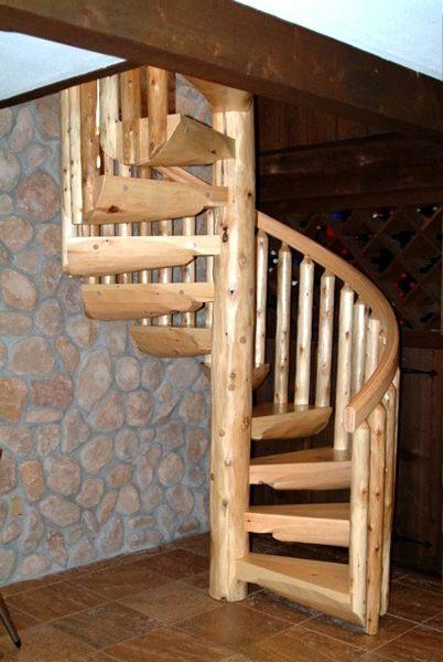 Best From Hand Hewn Log Spiral Stairs To Smooth Log Spirals 400 x 300
