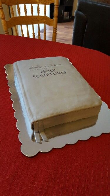New world translation Bible cake