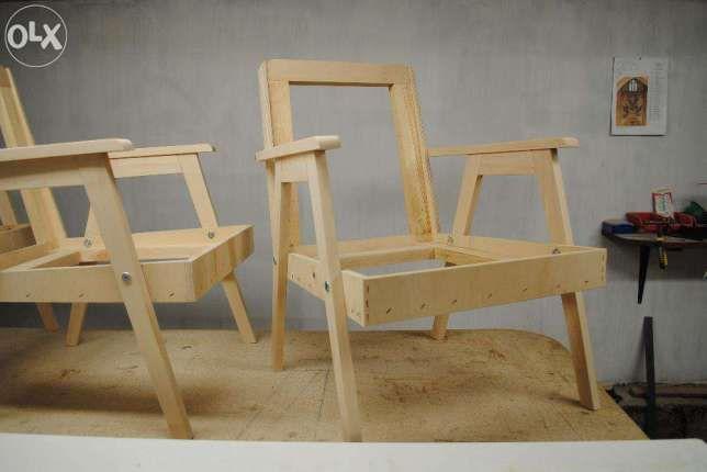 Fotel retro PRL, lata 60/70 - szkielet Kartuzy - image 1