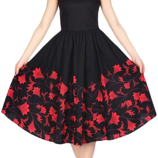 Chic Star Audrey Sleeveless Swing Dress| Rockabilly | Pin Up