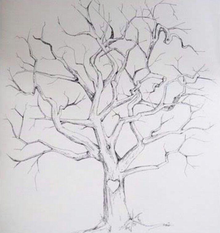 arbre empreintes dessin bapteme pinterest. Black Bedroom Furniture Sets. Home Design Ideas
