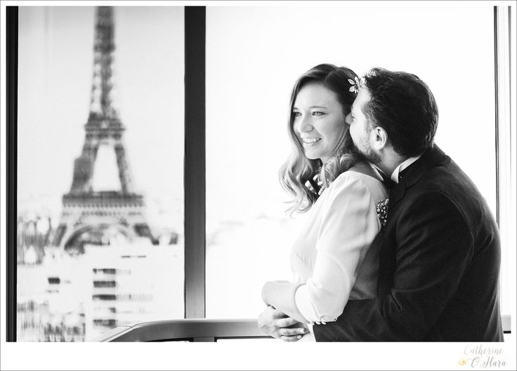 This bride had the perfect Paris apartment view! And she lives there!  www.catherineohara.com  English speaking wedding, elopement, engagement and surprise proposal photographer based in Paris, France.