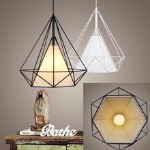Birdcage chandelier moderno e minimalista escandinavo pirâmide art ferro candelabro criativas restaurante luzes com LED(China (Mainland))