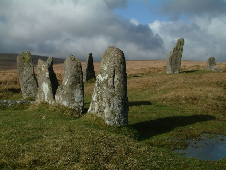 Standing Stones on Dartmoor, England.