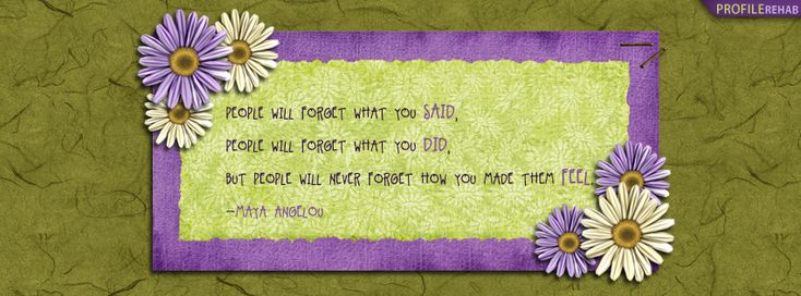 Maya Angelou Quote Facebook Cover - Facebook Cover Download
