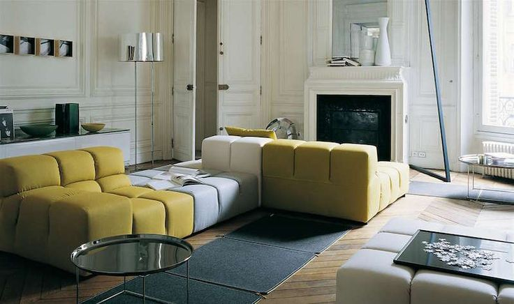 idée de canapé confortable et modulable de design moderne- Tufty-Time Sofa / B&B Italia