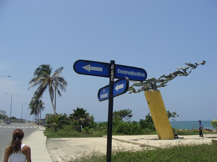 Monumento a los alcatraces en la Avenida Santander.