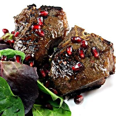 Grilled Lamb Chops with Pomegranate Glaze