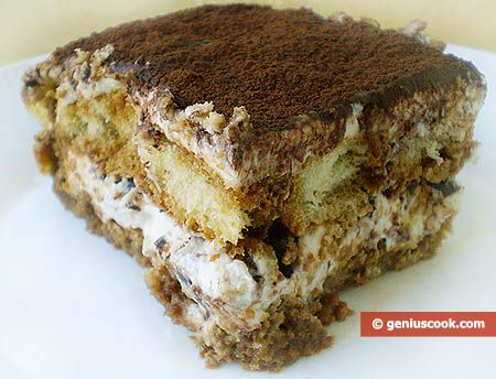 Recipe of Tiramisu Cake with Cottage Cheese Cream | Desserts | Genius cook - Healthy Nutrition, Tasty Food, Simple Recipes