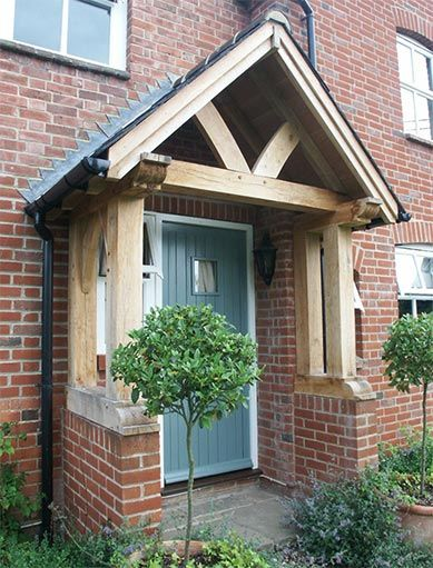 Oak Porch - Green Oak