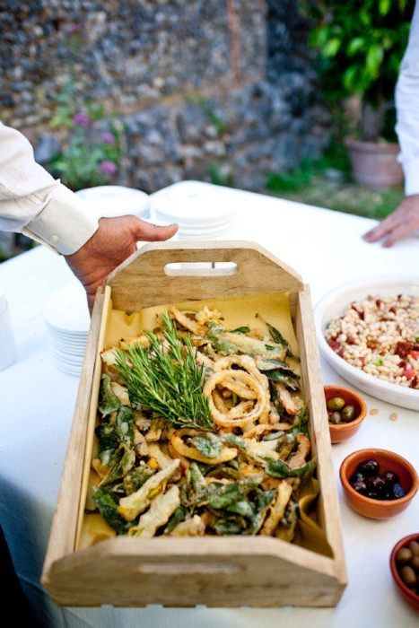 A Delicious Feast Of Italian Cuisine Served Family Style Receptionfood Familystyle
