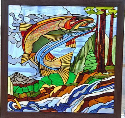 514 best stained glass fish other marine life images for Stained glass fish patterns