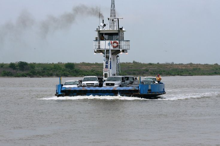 Baytown, TX : Ferry across to San Jacinto Battle Ground, Monument and BShip - rode this with Justin