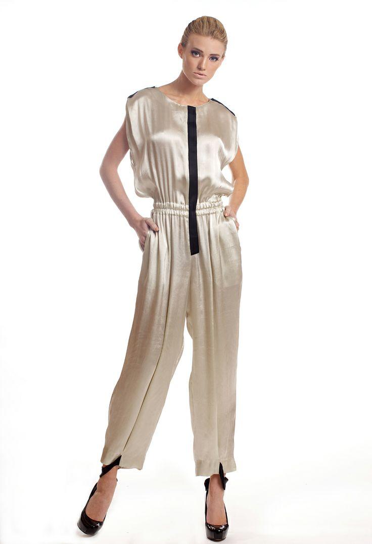 Silk-viscose blend jumpsuit with black embellishments.  http://www.etsy.com/shop/tsyndyma?ref=si_shop