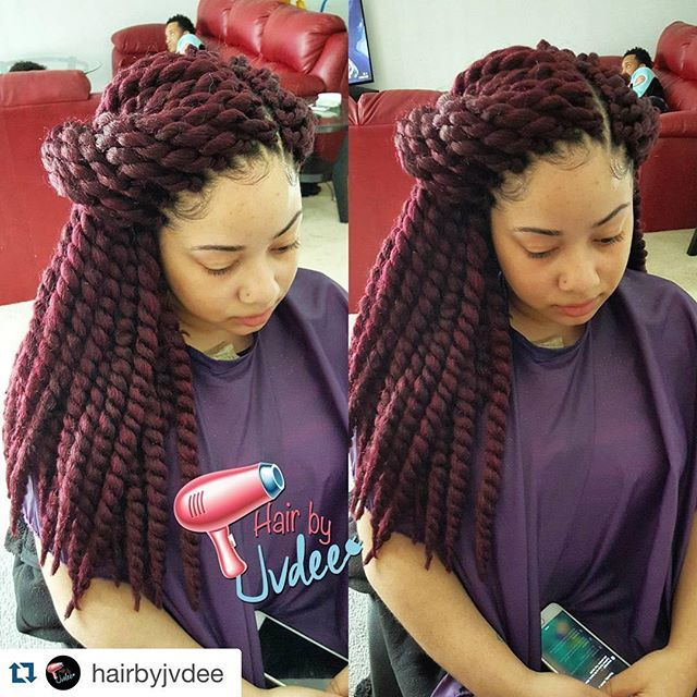 How To Apply Crochet Box Braids : ... on Pinterest Protective styles, Braids and Freetress bohemian braid