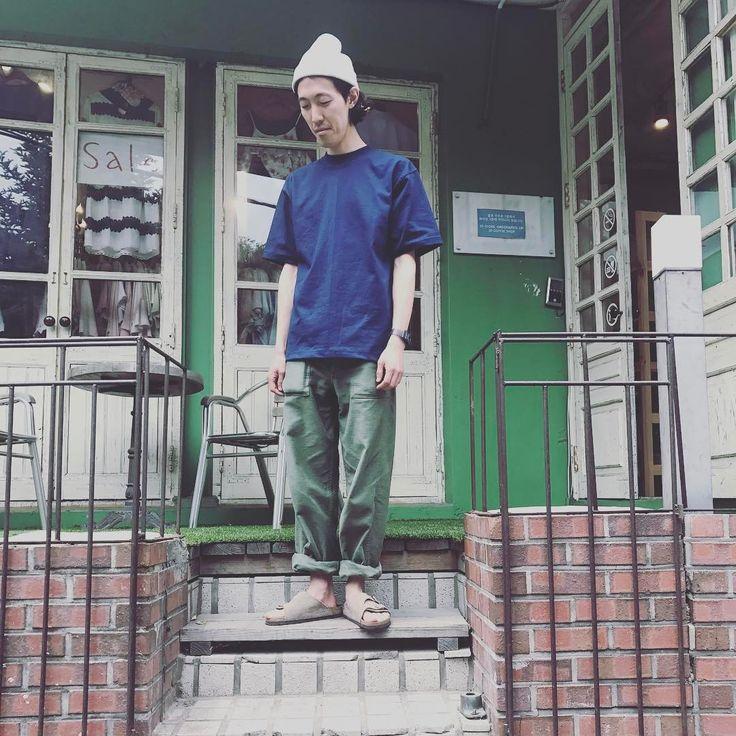 いいね!27件、コメント1件 ― 최인수さん(@ingsuingsu)のInstagramアカウント: 「#vintage#빈티지#데일리룩#dailylook#빔스#beams#fatiguepants#취리히#버켄스탁#birkenstock#orslow#오슬로우#오어슬로우」