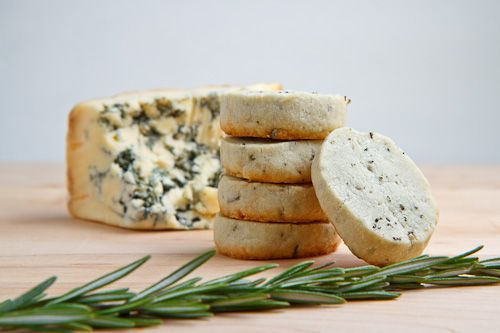 A touch of cracked pepper gives these Stilton and Rosemary shortbread cookies an extra bit of bite. From Closet Cooking.