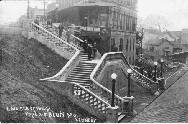 The Stairs From The New Train Station To The Dunn Hotel Poplar Bluff About 1930 Poplar Bluff Poplar Bluff Missouri Old Pictures