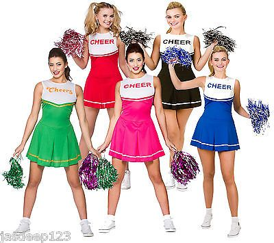Cheerleader fancy #dress #costumes womens ladies hig #school prom uniform pom pom,  View more on the LINK: http://www.zeppy.io/product/gb/2/171797395980/