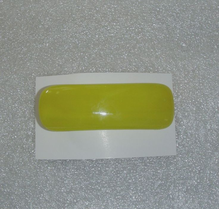 Fused Glass Barrette, Lemon Yellow Hair Clip, by rosepetalsjewelry on Etsy