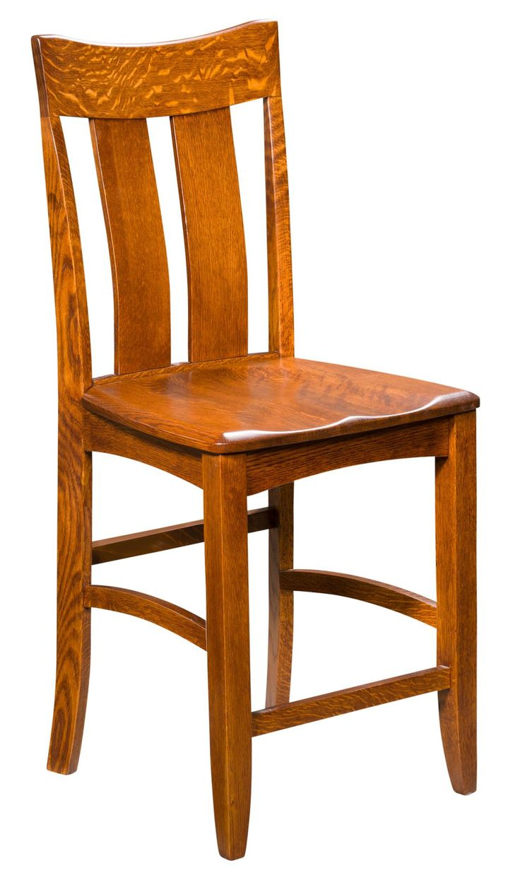 Amish Galena Stationary Bar Stool The Galena Stationary Bar Stool brings classic mission style furniture to your kitchen collection. Consider distressing options that offer a vintage look.