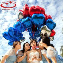 10 Pz/pacco Dolce Cuore Elio Foil Ballon Ballon Gonfiabile Matrimonio Festa Di Compleanno Decorazione Di Natale Decorazioni Per La Casa(China (Mainland))