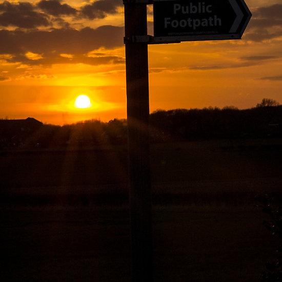 Sunrise on a Footpath