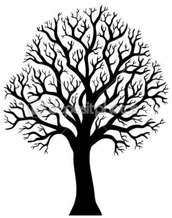 Силуэт дерева без листьев 2 — Векторная картинка #4525460