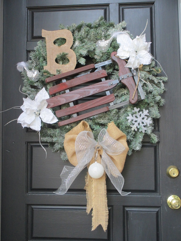 Christmas Sleigh Wreath ( One of my DYI Projects #1  2012 )