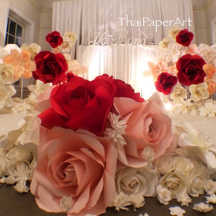 We provide high quality of paper flowers for every beautiful craft projects, wedding reception and parties. Our craft supply direct from Bangkok, Thailand.  Thaipaper.com poonpaper@gmail.com #paperflower
