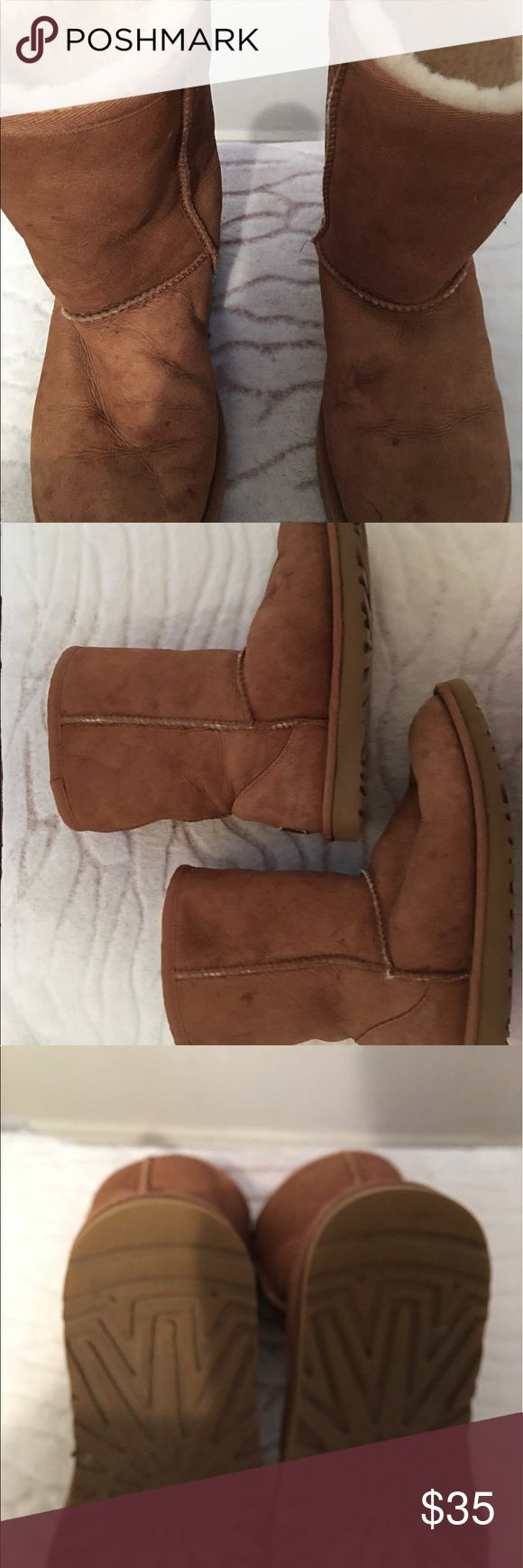 Women's Ugg Boots. They are a chestnut color. Very nice good condition boots. UGG Shoes Ankle Boots & Booties