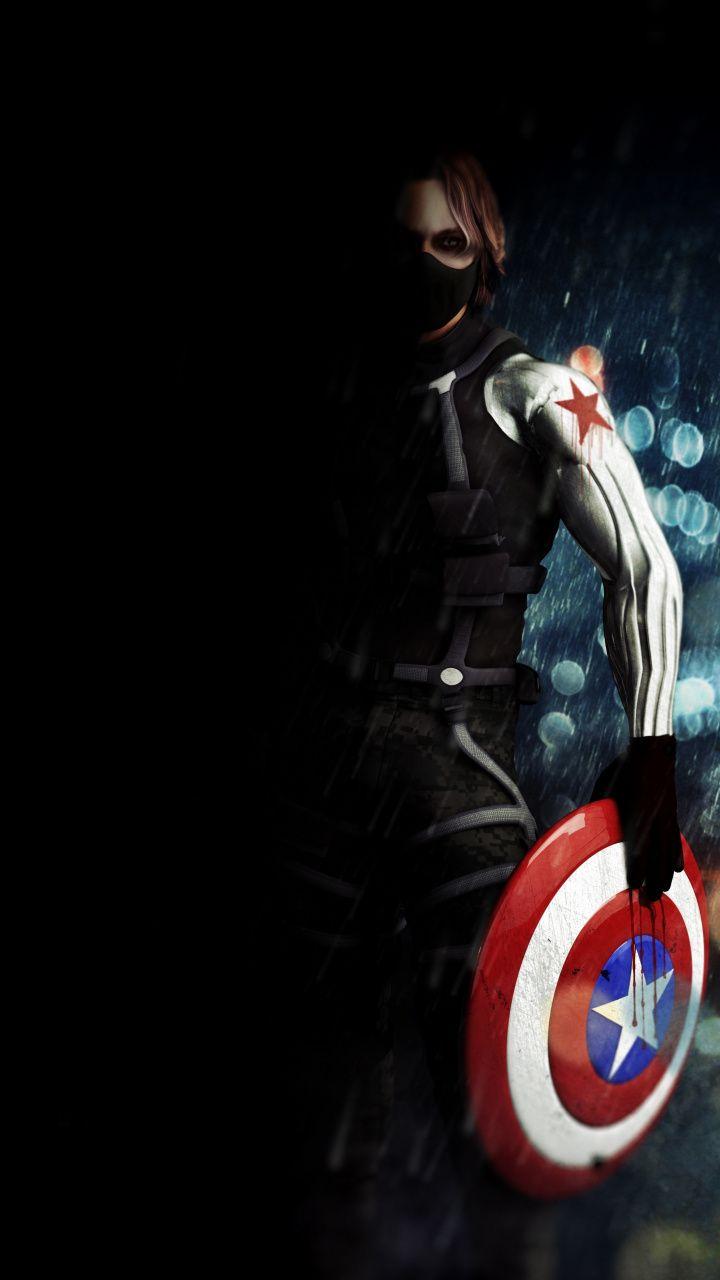 Bucky Barnes Captain America The Winter Soldier Movie Artwork 720x1280 Wallpaper Bucky Barnes Winter Soldier Bucky Barnes Winter Soldier