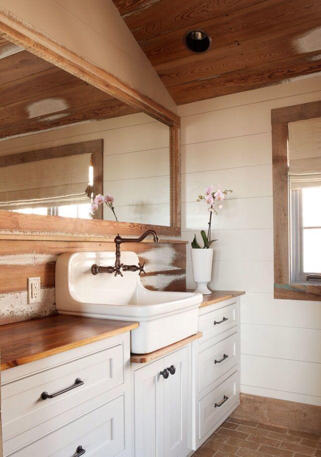 rustic bathroom - Rustic Chic Bathroom Vanity