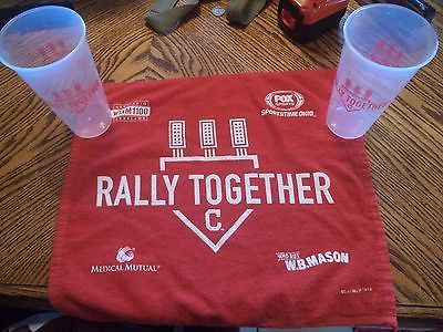 Cleveland Indians Rally Together Towel  & Cups Champs 2016 World Series