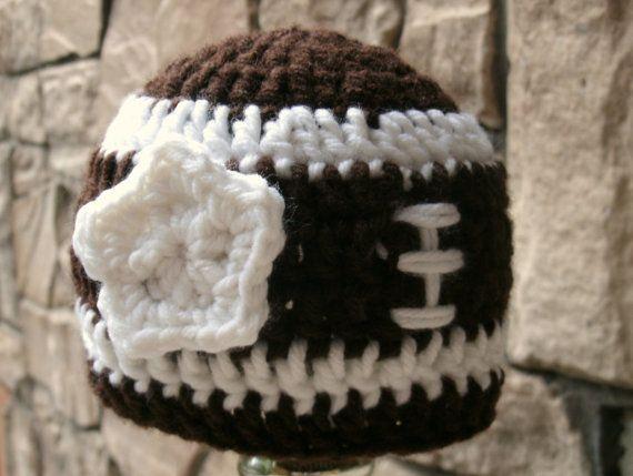 Baby girl football hat