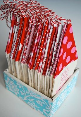 Advent houses - blog lists ideas for filling as well, little notes with things to do. :)