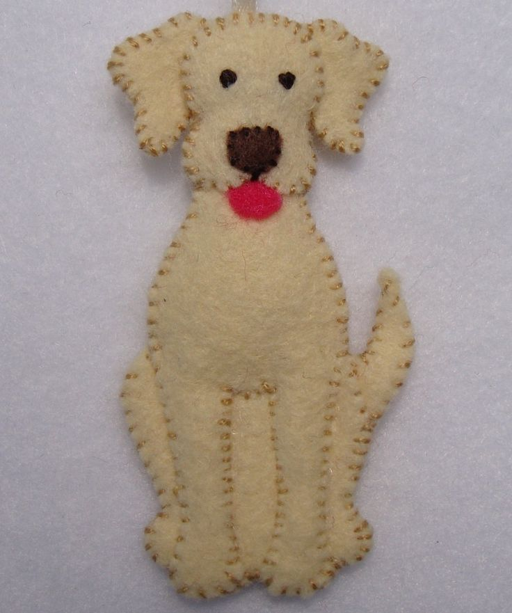"3"" Felt Dog Ornament."