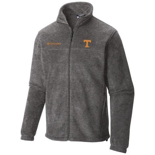 Columbia Sportswear Men's University of Tennessee Flanker™ II Full Zip Fleece Jacket (Grey, Size Large) - NCAA Licensed Product, NCAA Men's Fleece/...