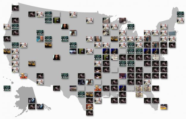 YouTube Trends map shows most popular videos by region