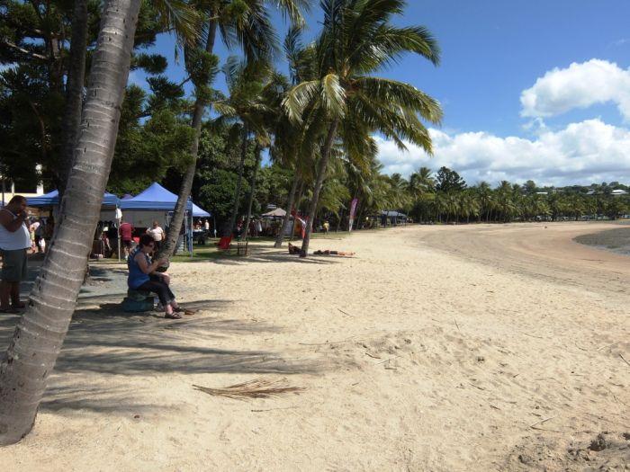 Saturday markets at Airlie beach