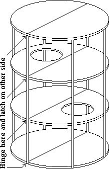 DIY plans for cat cages and exercise wheels. Cat cage shown would also make a great cat condo, tunnel, cat perch! #cats #CatPerch #CatsCondo