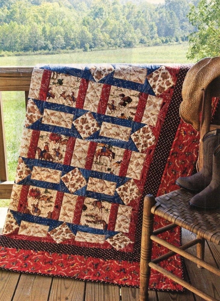 American Cowboys Quilt Pattern Pieced DL
