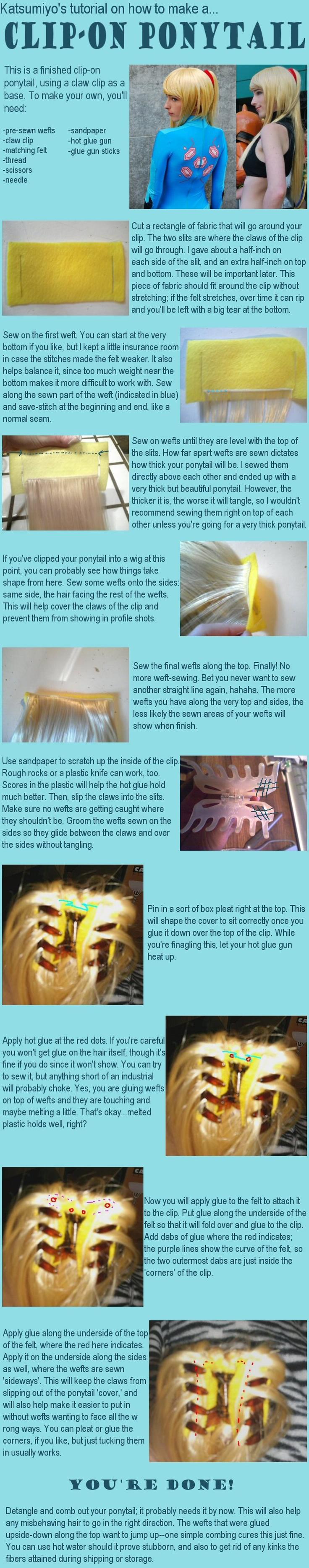 Ponytail hairclip tutorial!!!!! Diy Cosplay or not, i suppose, ponytail hairclip tutorial...