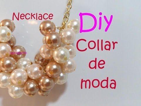 M Como hacer collares de moda , 2014 y 2015 , Collar de mostacillas paso a