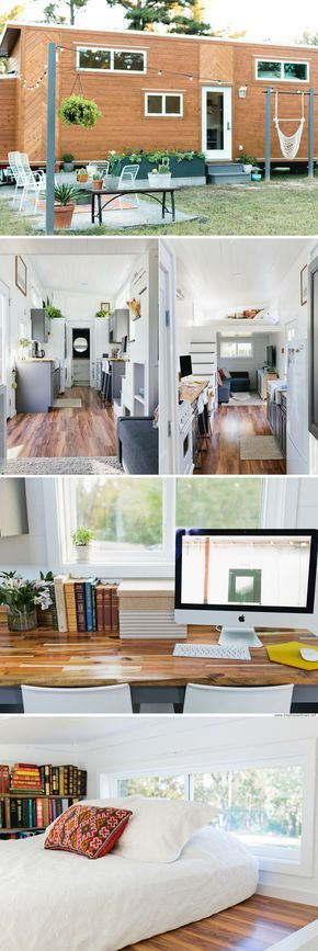 The Golden: A 320 Sq Ft Tiny House With A Bright And Cozy Interior,  Designed And Built By American Tiny House.