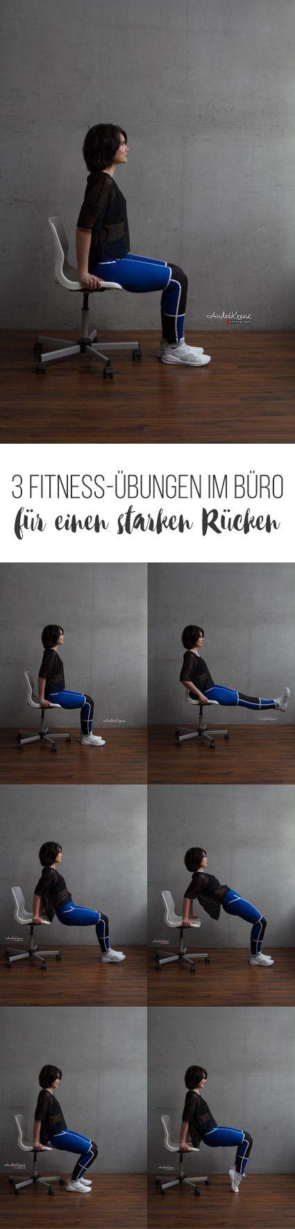 3 Fitness-Übungen im Büro für einen starken Rücken