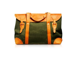 Sandstorm Short Weekender in Green Canvas  £165.00    Also available in Mocha, Tan Pull-Up Leather and Tan Canvas