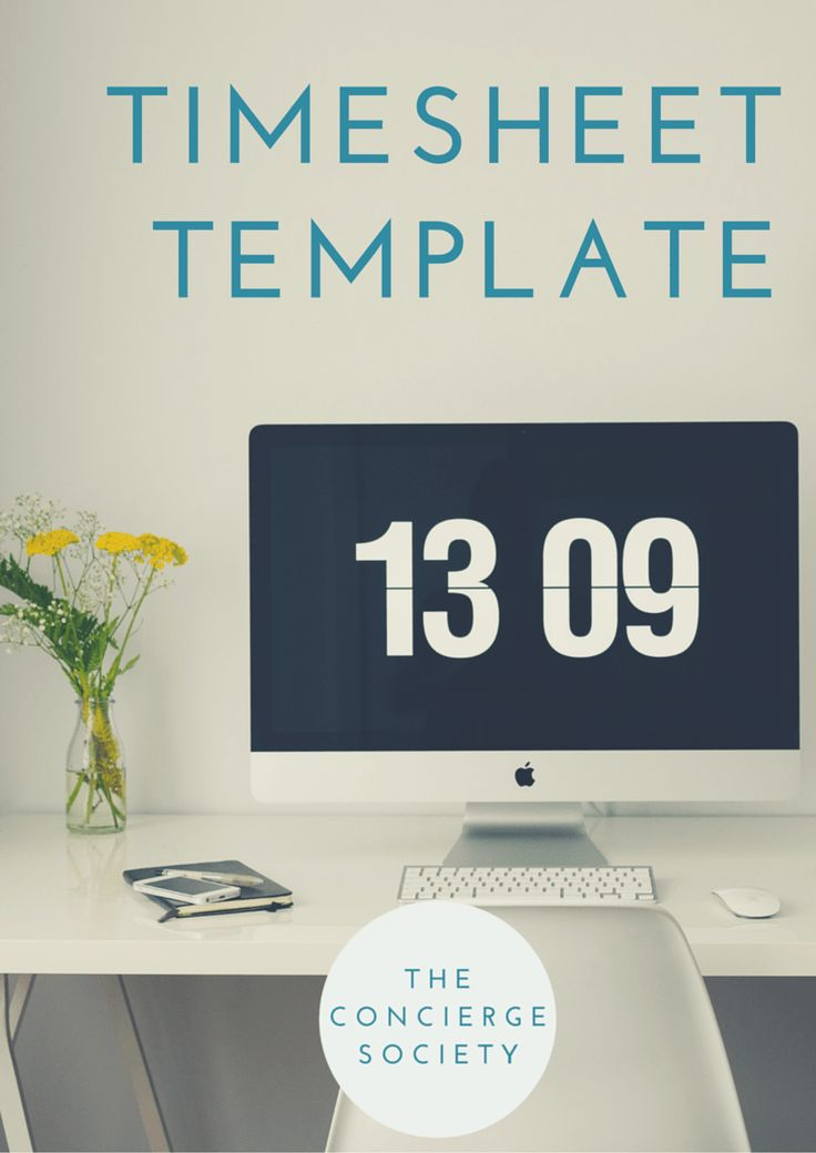 The Concierge Society Timesheet Template Starting A