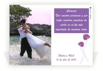 Ideas para una boda: ¿Qué son las tarjetas de agradecimiento?
